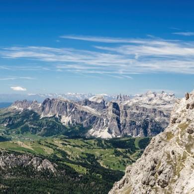 Alpen Sommer 2017 - Lagazuoi mit Puez-Geisler und Grödnerjoch